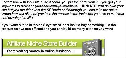 Site Build It! Scam
